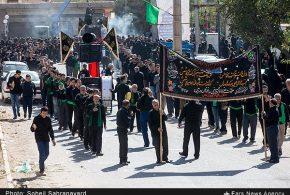 گزارش تصویری خبرگزاری فارس از عزاداری و تعزیه روز عاشورا در روستای باغخواص ورامین